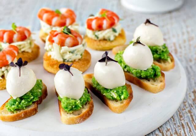 Wedding catering finger food canapes 28 images for Gourmet canape ideas