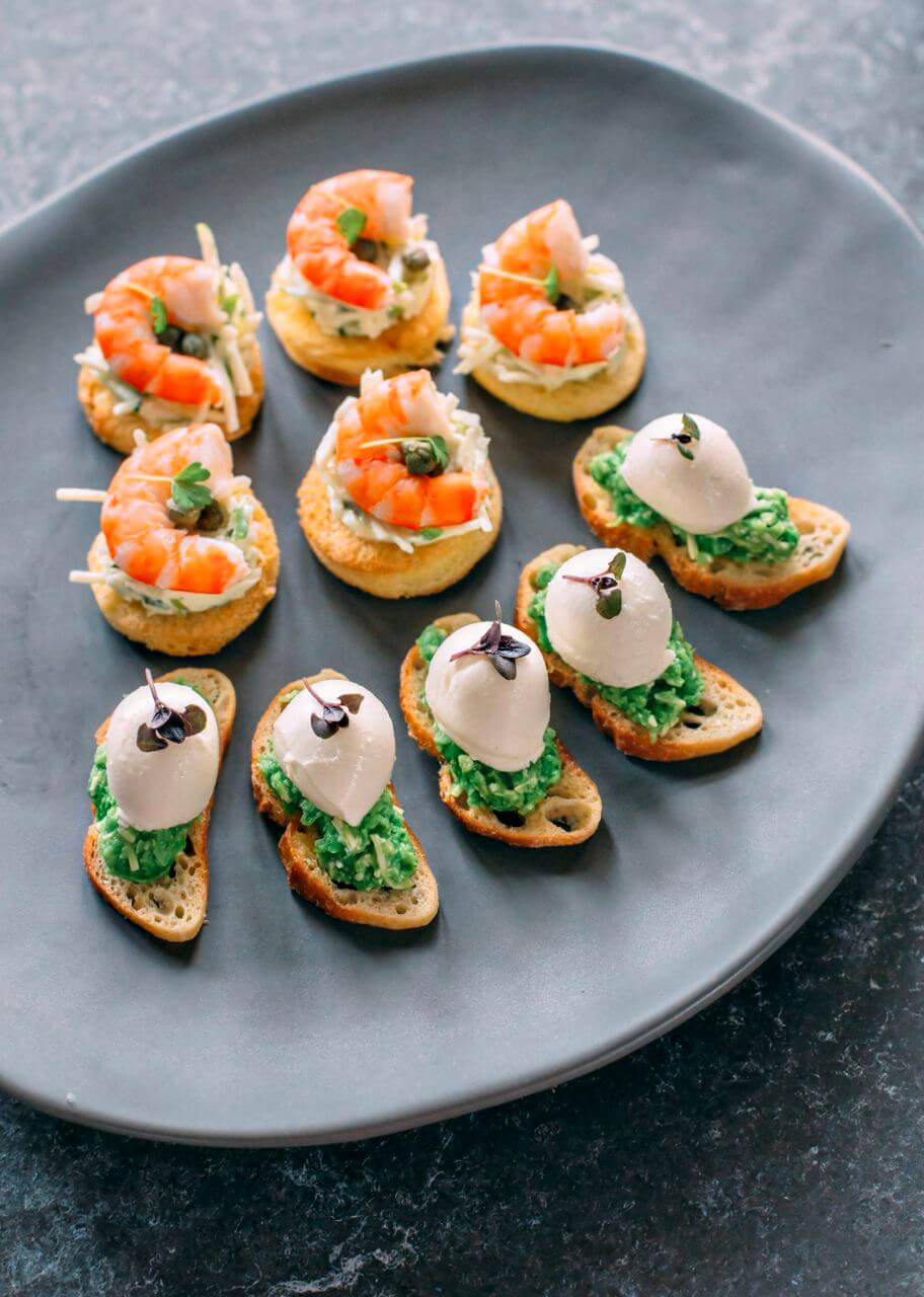 finger food canape catering brisbane at your table