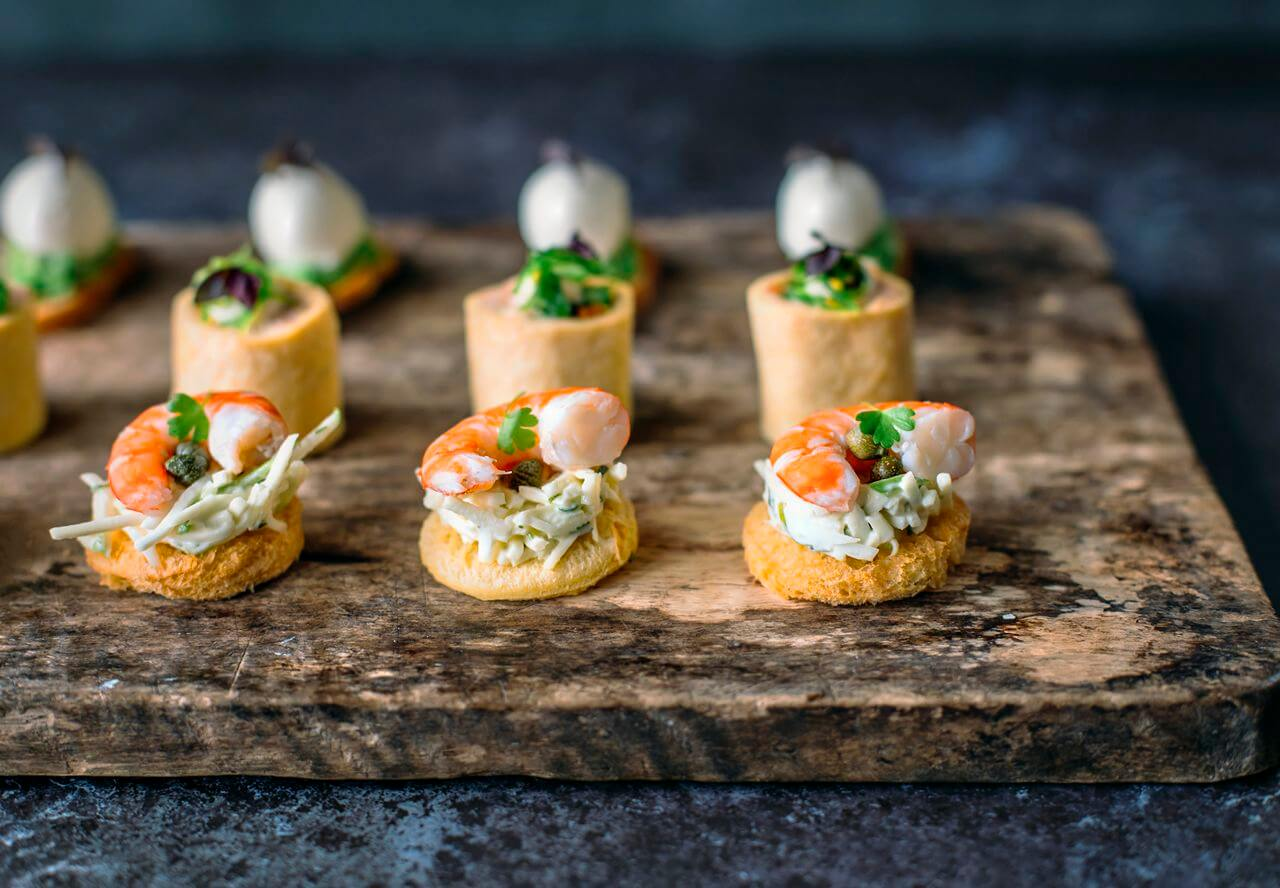 Canape cocktail party finger food catering at your table for French canape menu