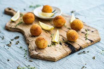 Parmesan Arancini balls for your next dinner party.